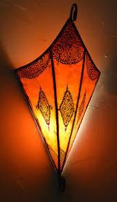 Moroccan Wall Sconce Moroccan Wall Sconce Light Fixture Decorative Henna Goat Skin