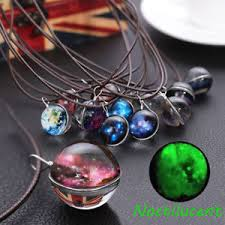glass star pendant necklace images Dreamy glass ball star universe galaxy pattern pendant necklace jpg
