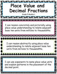 grade 5 module 1 place value and decimal fractions i can statements