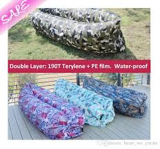 new arrivals camo inflatable bags air sofa couch 190t terylene