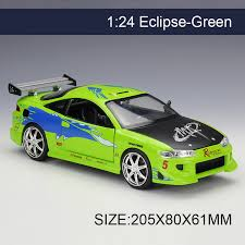 mitsubishi eclipse fast and furious 1995 mitsubishi eclipse fast and furious 1 24 scale motorbasket