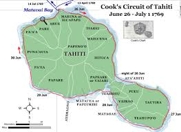 Tahiti Map World by Captain Cook U0027s Endeavour Journal June 2012