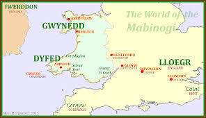 Map Of Wales And England by Map Of The Mabinogi Mabinogistudy Com
