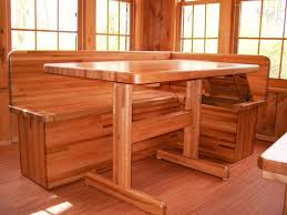 wooden kitchen table with bench kitchen ideas