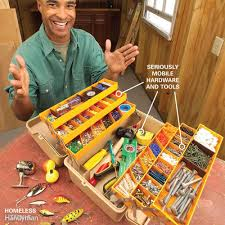 reclaim your garage organize it tackle box tool tote and hardware