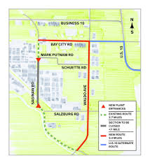 Michigan Traffic Map by Dow Chemical Wants To Close Portion Of Saginaw Road In Midland