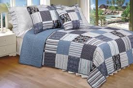 Patchwork Duvet Covers Daniel 100 Cotton 3pc Vermicelli Quilted Striped Patchwork Quilt