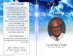 template for memorial service program free memorial template free memorial service program template