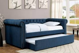 Daybeds With Trundles Dark Teal Upholstered Daybed W Trundle Caravana Furniture