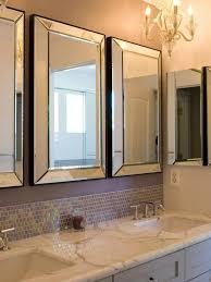 bathroom elegant vanity set with mirror and mirrors brushed nickel