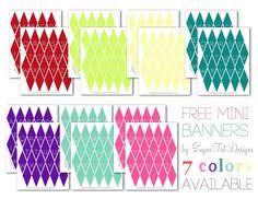 free printable birthday cake banner free mini cake pennant bunting for thanksgiving fall birthday s