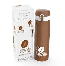 Best Stainless Steel Travel Mug by Easy To Use Spill Proof Leak Proof Travel Mug By Mateojo Mateojo