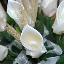 Calla Flower Calla Lily Confetti Flower Favor With Wheat