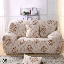 housse de canapé 3 place élastique housse de canapé 3 places avec fleur orange imprimé pour