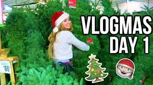 goes tree shopping vlogmas day 1