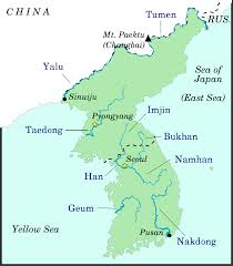 Map Of Rivers List Of Rivers Of Korea Wikipedia