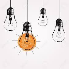 pendant light bulbs vector grunge illustration with hanging light bulbs and place