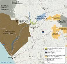 San Diego State University Map by California U0027s Santa Margarita River Western Rivers Conservancy
