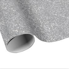silver glitter wrapping paper sparkle wrapping paper zazzle