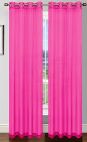 Pink And Purple Curtains Fuschia Pink Platinum Sheer Voile Curtain With Grommets Moshells