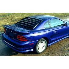 mustang rear louvers mustang rear window louvers abs textured coupe 1994 2004