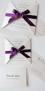 Wedding Invitations Purple Purple And Ivory Wedding Invitations Justsingit Com