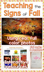 Fall Autumn by Teaching The Signs Of The Fall Autumn Season Lessons For Little