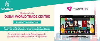 cabsat 2018 dubai world trade centre mware solutions