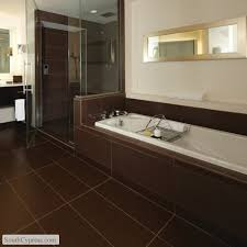 brown tile bathroom awesome brilliant chocolate brown bathroom floor tiles for your home