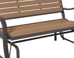 bench amazing porch bench glider wood alternative patio glider