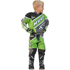 junior motocross racing wulfsport crossfire cub motocross suit green mx enduro race junior