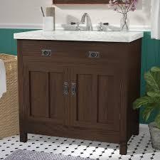 35 Bathroom Vanity Three Posts Lindahl 35 Single Bathroom Vanity Set Reviews Wayfair
