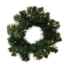 16 pre lit deluxe pine artificial wreath clear