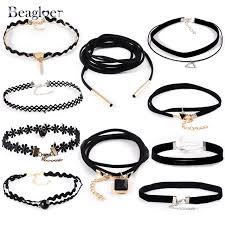 aliexpress buy new arrival 10pcs upscale jewelry aliexpress buy beagloer new 10 pcs set leather choker