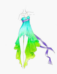 disney princess fashion sketches inspired by ariel from the