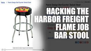 harbor freight light bar hacking the harbor freight bar stool youtube