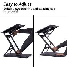 Sitting And Standing Desk by Amazon Com Trigear Premier 81 Adjustable Height U0026 Angle Options