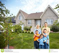 New House by Happy Family Near New House Stock Images Image 35582054