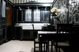 kitchen ideas with black cabinets modern enchanting black and white kitchen my home design journey