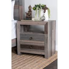 rustic nightstands u0026 bedside tables shop the best deals for dec