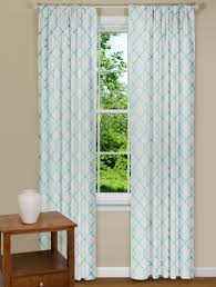 Green And Blue Curtains Modern Curtains Aqua Embroidered Panel