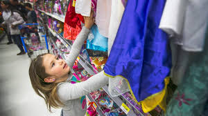 kids police officers go holiday shopping