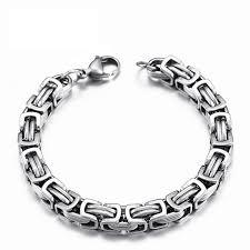 chain link bracelet silver images Stainless steel byzantine quot birdcage quot chain link bracelet project jpg