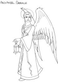archangel gabriel line art by doublevisionary on deviantart