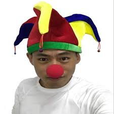 mardi gras jester costume online shop three horns cplors hat multicolor