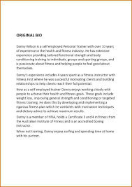 8 personal bio template authorizationletters org