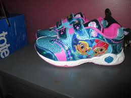light up shoes size 12 nickelodeon shimmer and shine girls light up shoes sneakers