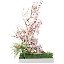 Manzanita Branches Centerpieces Wedding Centerpieces White Cymbidium Orchids Umbrella Fern