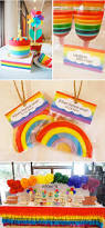 kara u0027s party ideas rainbow themed 1st birthday party kara u0027s