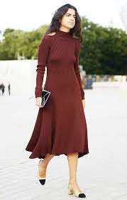 maroon sweater dress style and fashion trend coverage whowhatwear